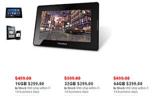(CNNExpansión) — El fabricante de BlackBerry, Research in Motion (RIM), rebajó todos los modelos de su tablet a 299 dólares en su tienda en línea, en momentos en que su dispositivo no acaba de convencer en un mercado muy competido. La compañía decidió además de manera confusa recortar el precio de todas las versiones de la PlayBook, por lo que la versión de menor memoria cuesta lo mismo que la más potente. La incursión de RIM en el mercado de las tablet ha generado una gran decepción para la propia compañía, que aceptó en diciembre del año pasado que requería