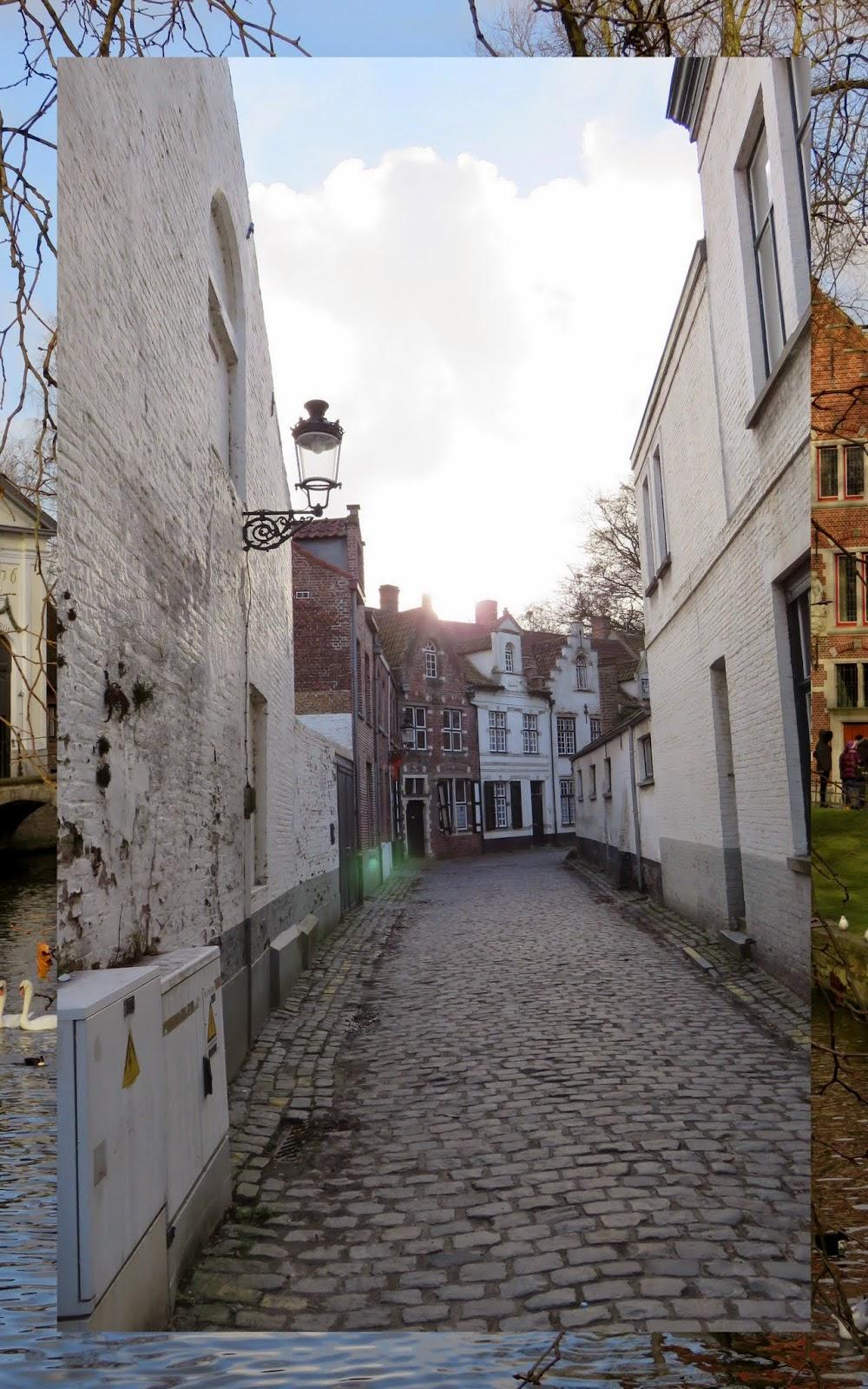 Cobbled street in Bruges