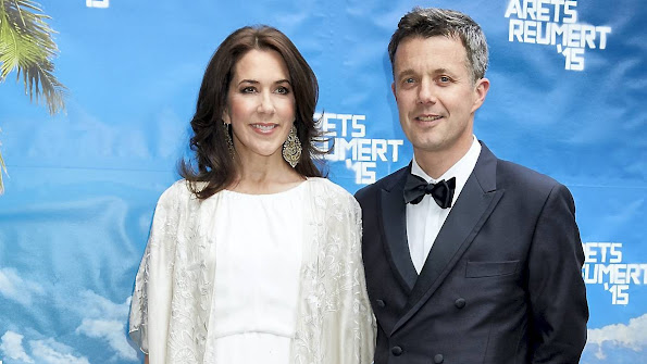 Crown Princess Mary and Crown Prince Frederik attend the Reumert Awards 2015 ceremony