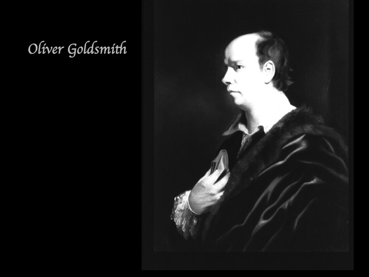 essay on luaghing comedy oliver goldsmith Sentimental comedy is an sentimental comedies continued to coexist with more conventional laughing comedies such as oliver goldsmith this essay signaled the.