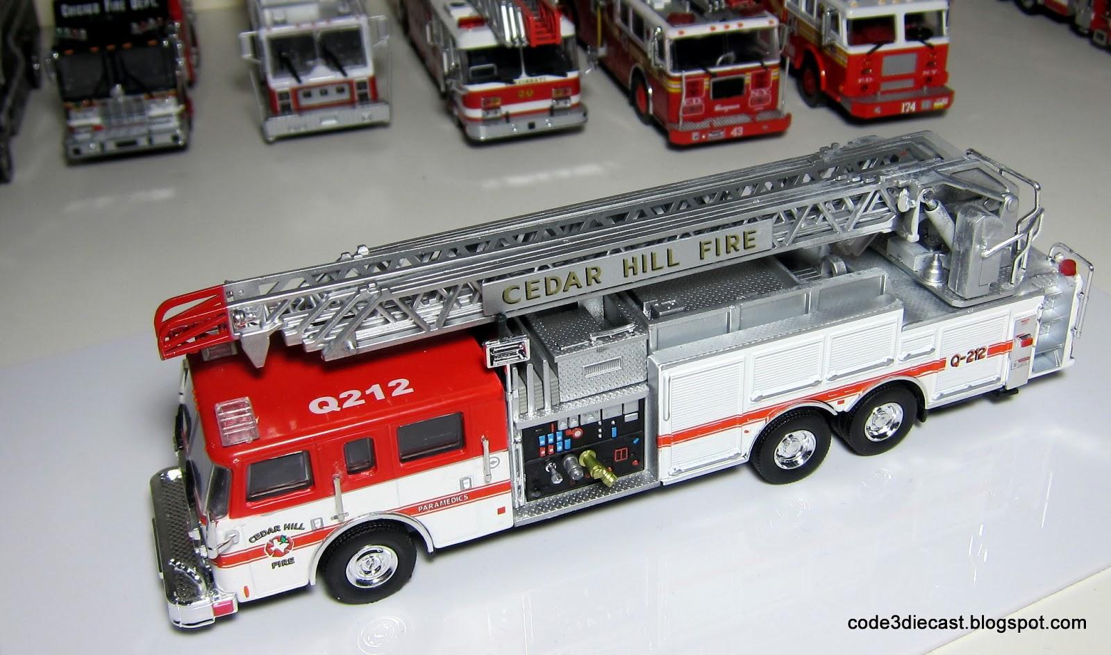 My code 3 diecast fire truck collection pierce dash rear mount ladder