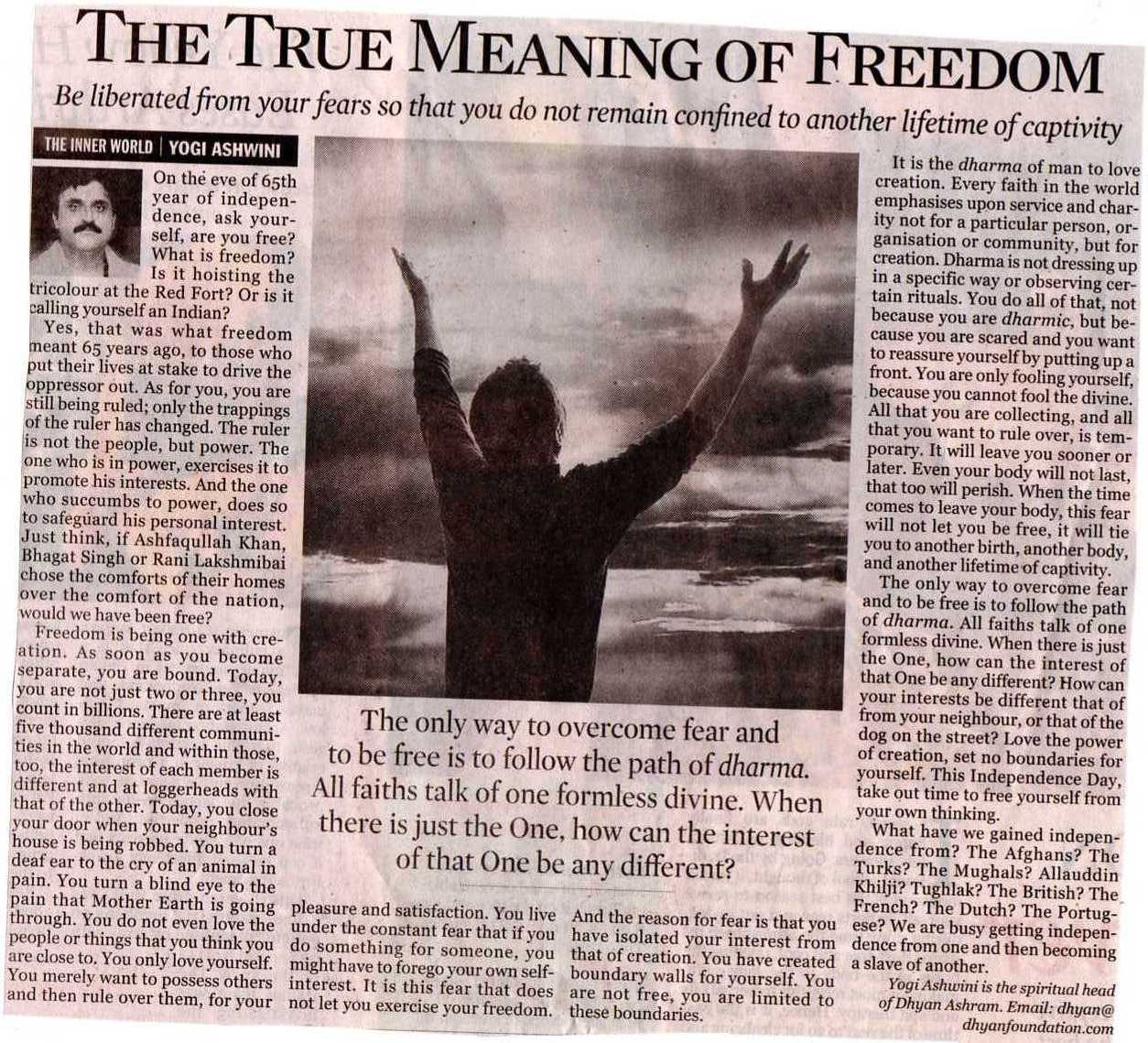 real meaning of freedom This is how god addressed himself to moshe when promising to redeem the jews from egyptian bondage this promise heralded their soon-to-be-achieved freedom.