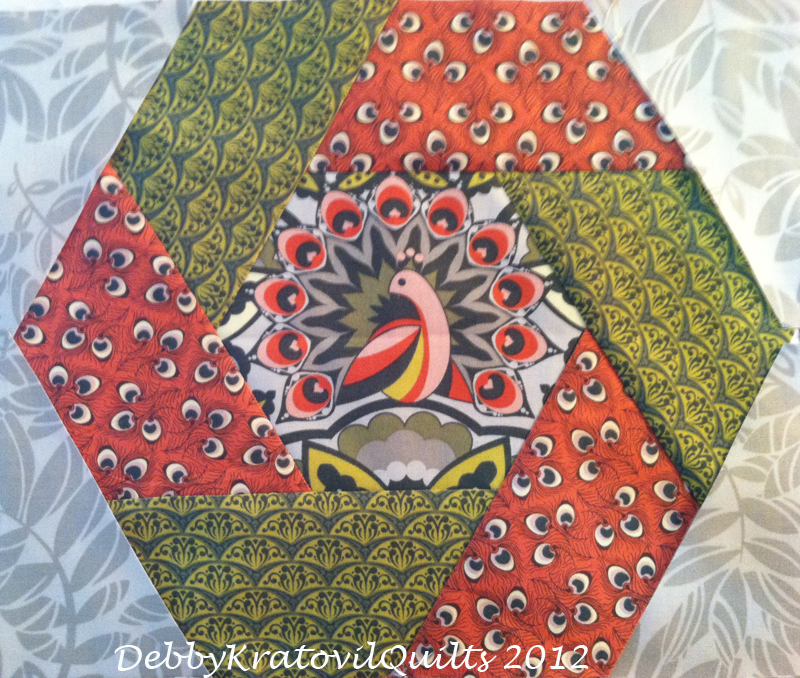 Free Quilt Pattern For Hexagon : Debby Kratovil Quilts: More Joys of Hex - Twisted Hexagons
