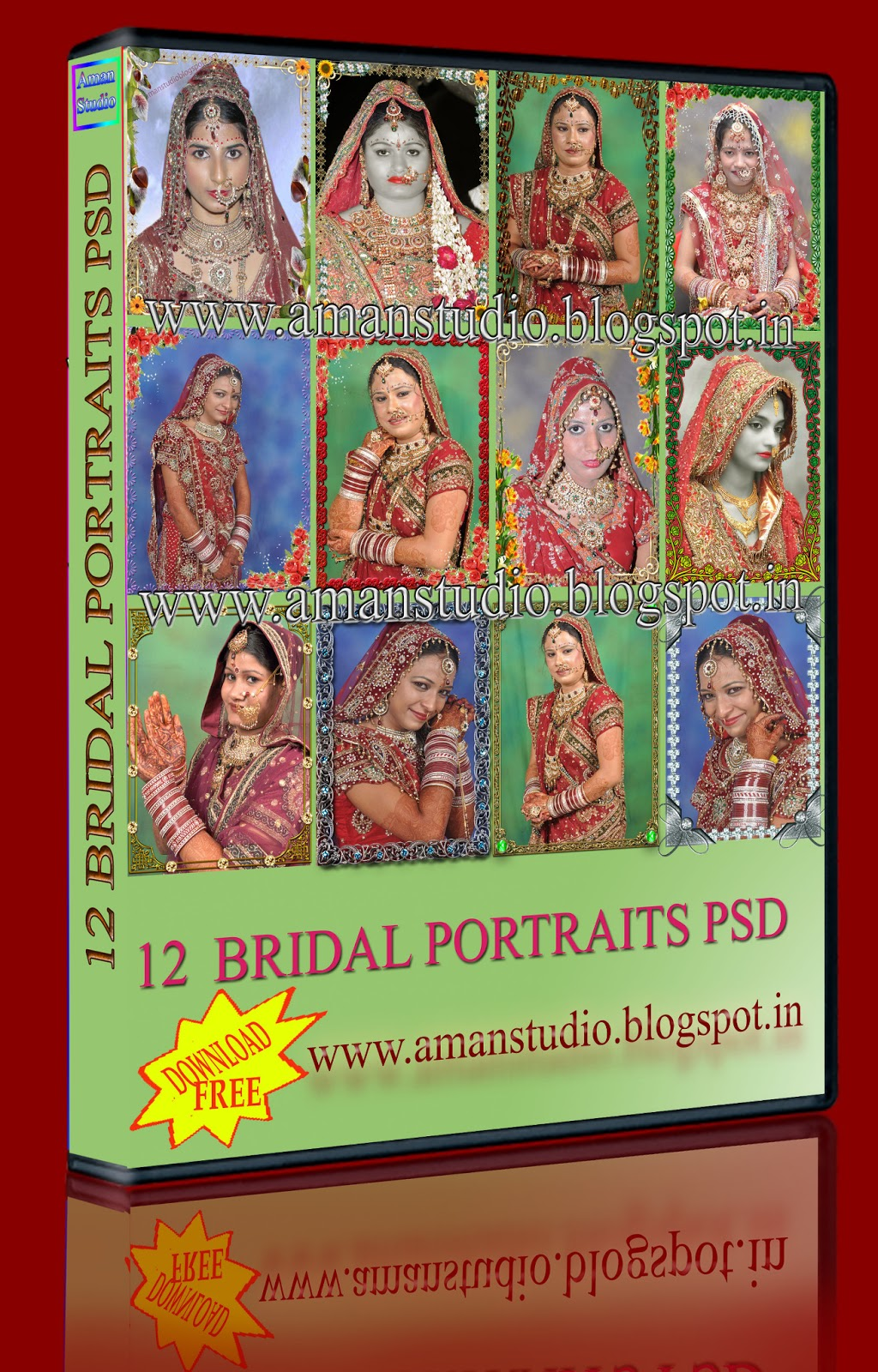 12 BRIDAL PORTRAITS PSD