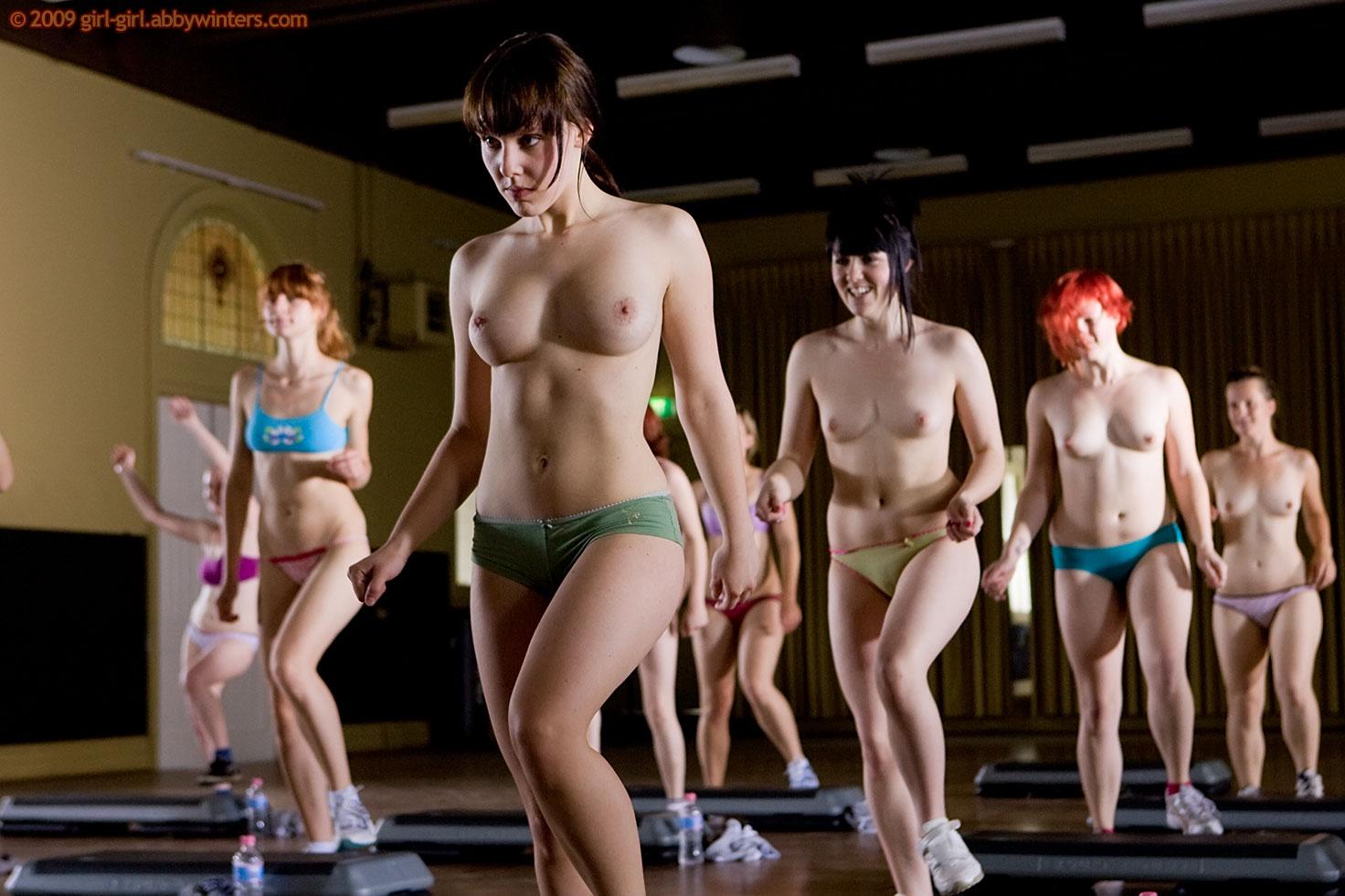 Abby Winters Step Aerobics Girls
