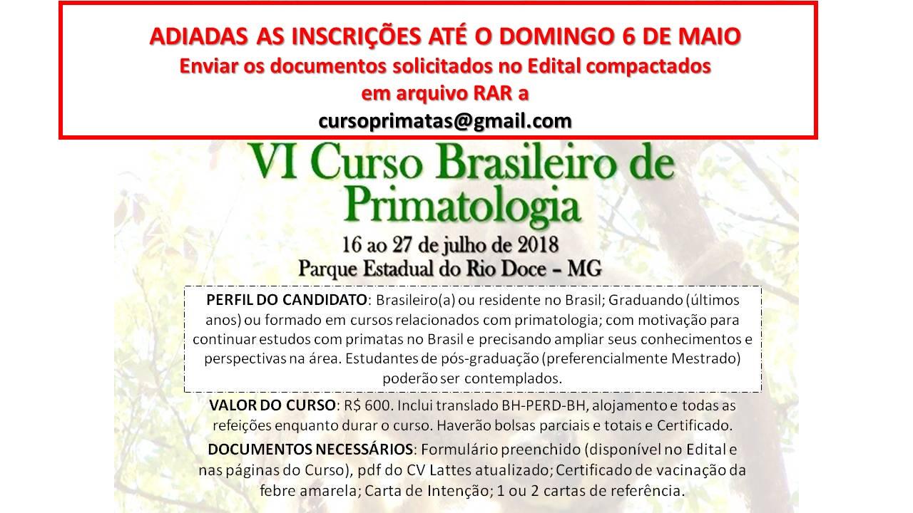 Bem-vindos ao Blog do VI Curso Brasileiro de Primatologia