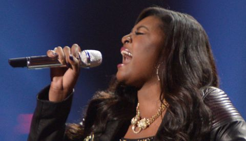 Candice Glover, American Idol 12 winner performing her coronation song I Am Beautiful
