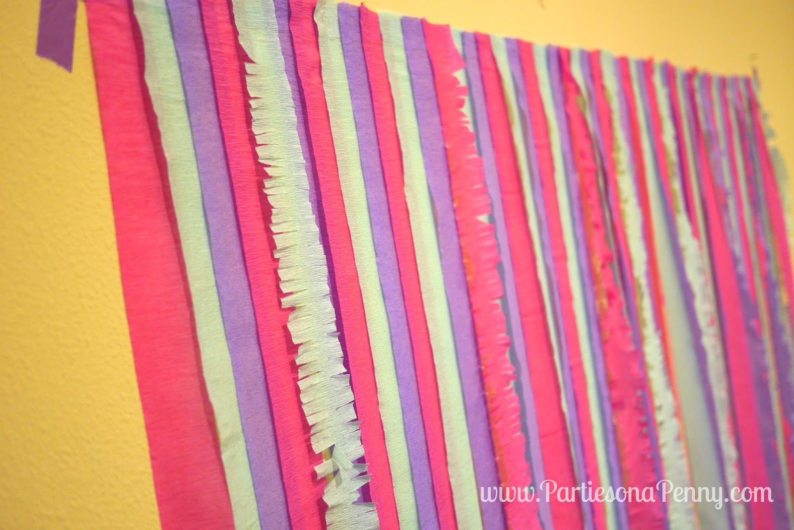 Parties on a penny easy diy streamer backdrop easy diy streamer backdrop solutioingenieria Choice Image