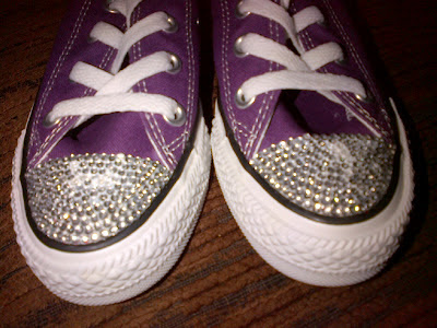 crystal rhinestone converse trainers