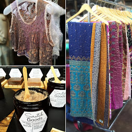 Ryan Pickle beaded vest, Hand&Cloth throws, Scratch Goods Dark Matter Coffee scrub.