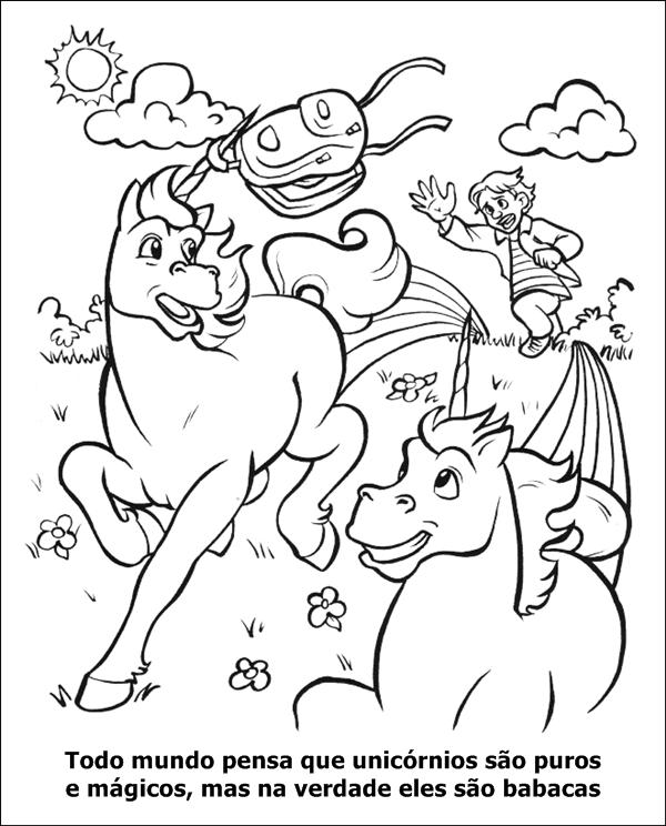 unicórnios são babacas o livro de colorir pra adultos mais legal