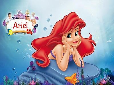 Desenho Ariel colorido