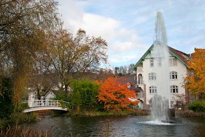 Memorias de Otoño - Fuente en el Parque - Casas lindas