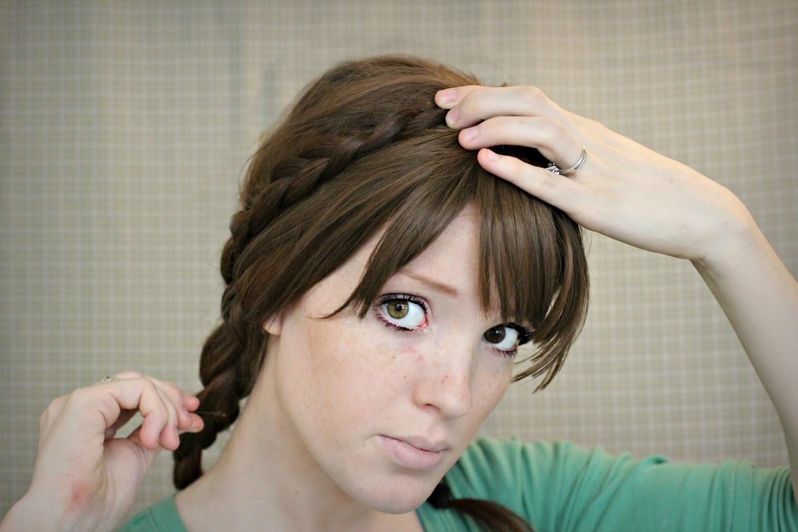 The Freckled Fox Hair Tutorial Maiden Braids Updo