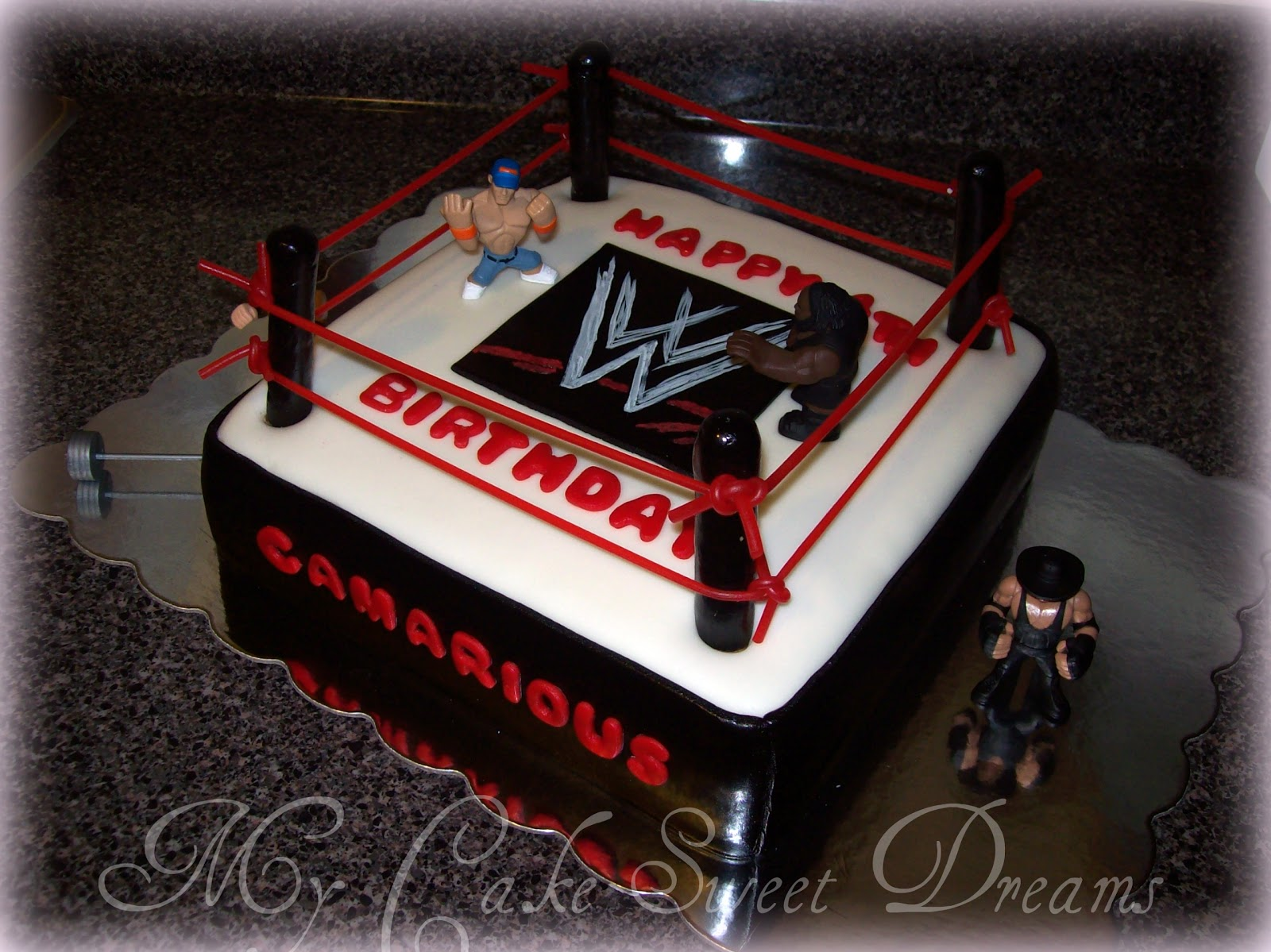 My Cake Sweet Dreams Wwe Wrestling Cake