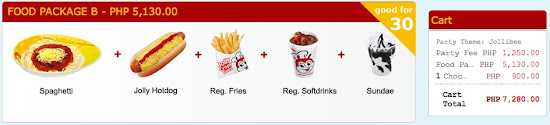 Jollibee Birthday Party Package Price - food package B