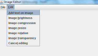 Image editor edit menu