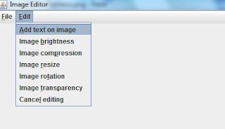 Image editor edit menu