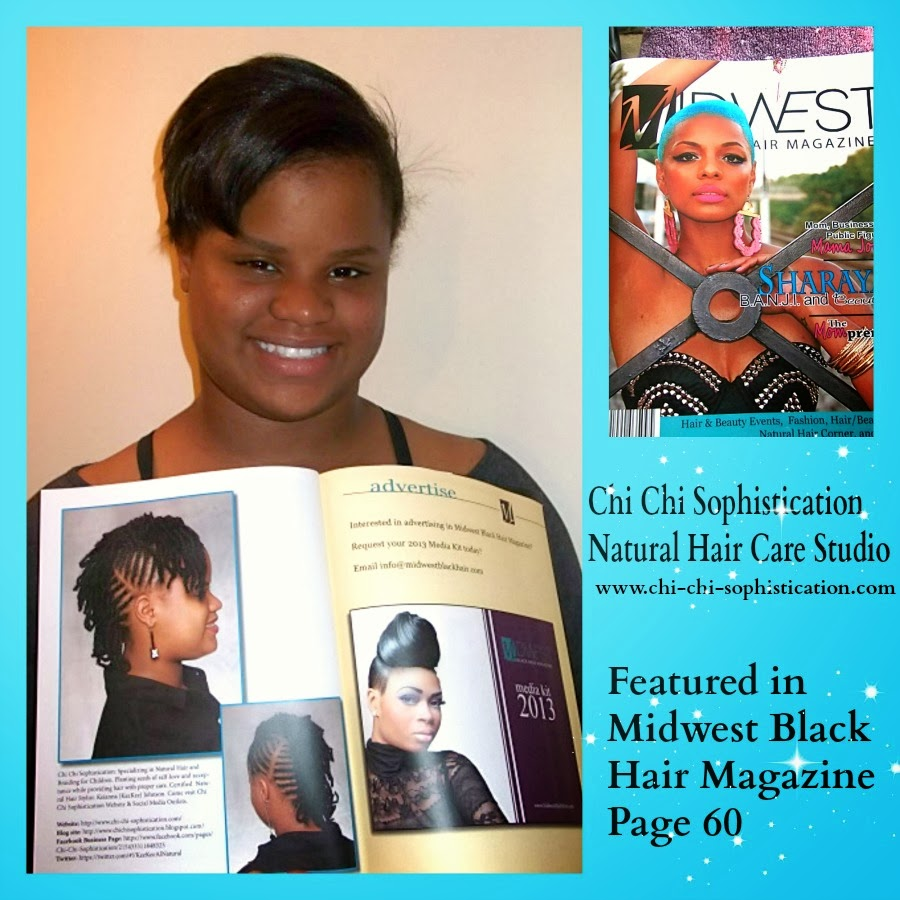 Featured In Midwest Black Hair Magazine
