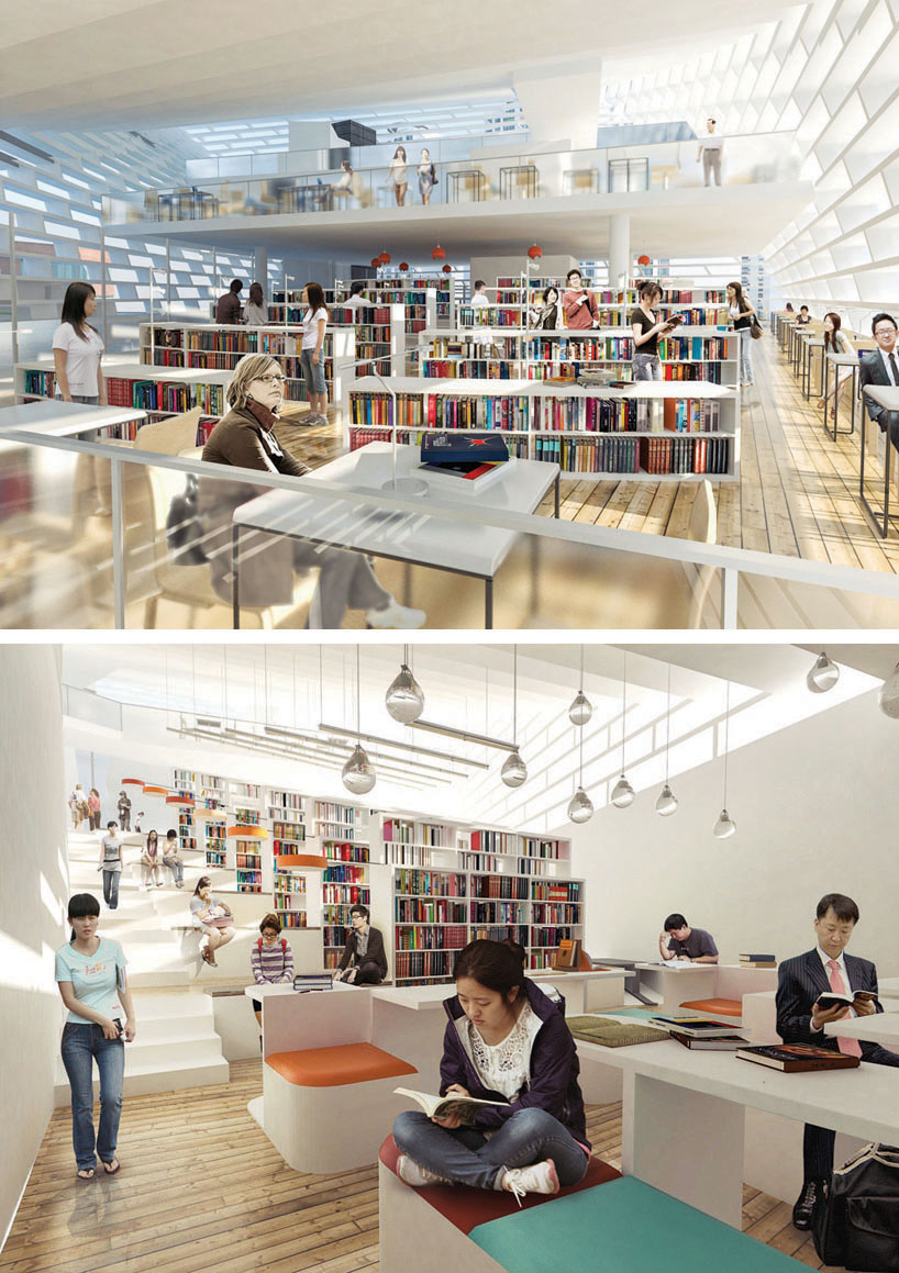 Project public library in ying yang for Library designs interior