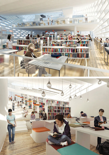 interior design of public library
