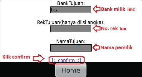 Cara deposit ke