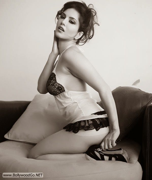 Sunny Leone Black and White Photography