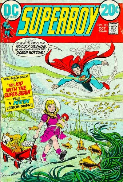 Superboy #191,, the kid with the super-brain