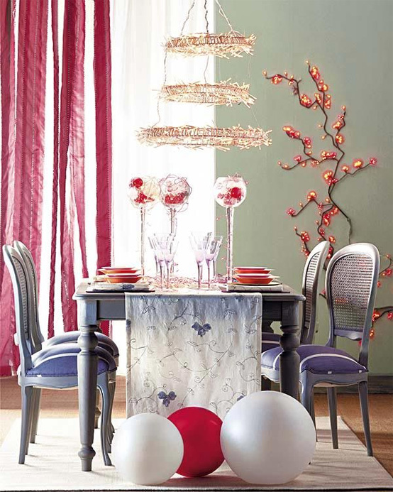 Creative Christmas table decorating picture 8