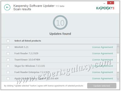Kaspersky Software Found Updates
