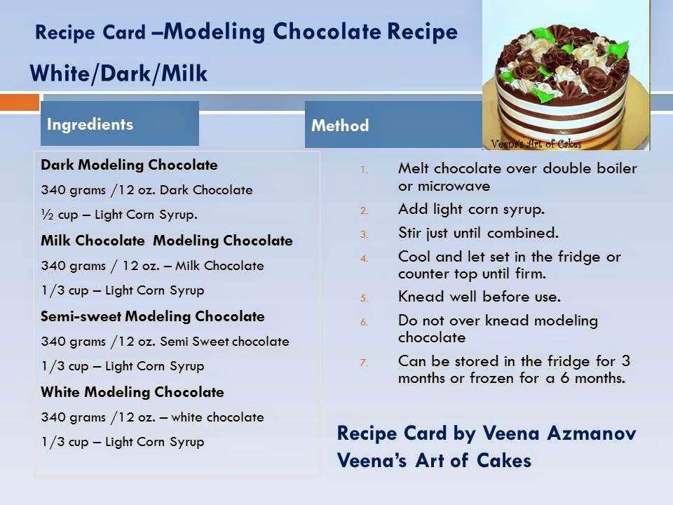 Cake Art Modeling Chocolate : How to make Dark Modeling Chocolae