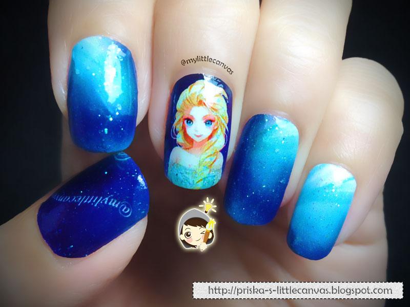 FROZEN Nail Art: Elsa! - MyLittleCanvas: FROZEN Nail Art: Elsa!