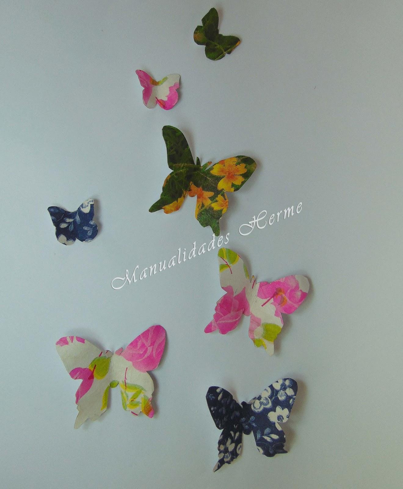 Como hacer mariposas - Para hacer manualidades ...