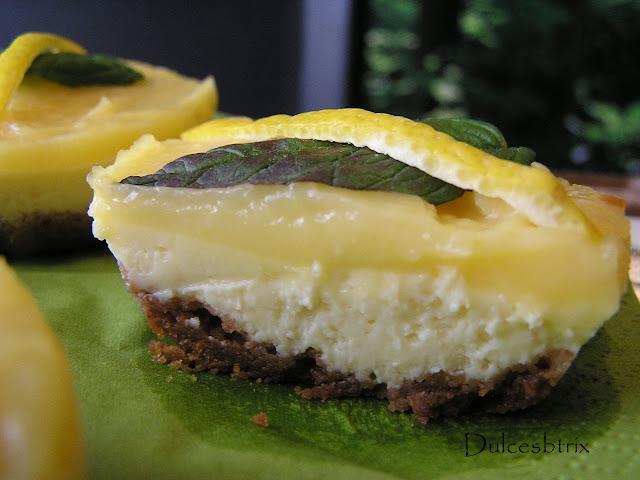 Tartaletas de queso y limón