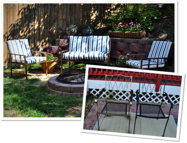 Finding My Aloha Painting patio and firepit furniture