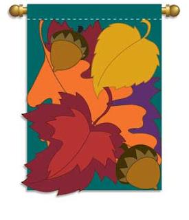 Leaf Boquet Applique Garden Flag
