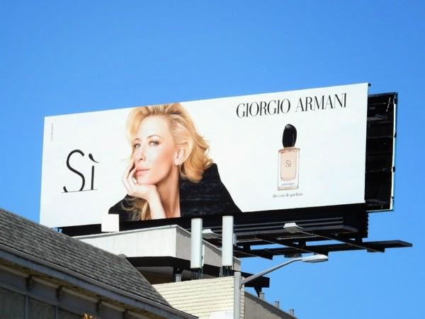 Cate Blanchett Giorgio Armani Si perfume billboard