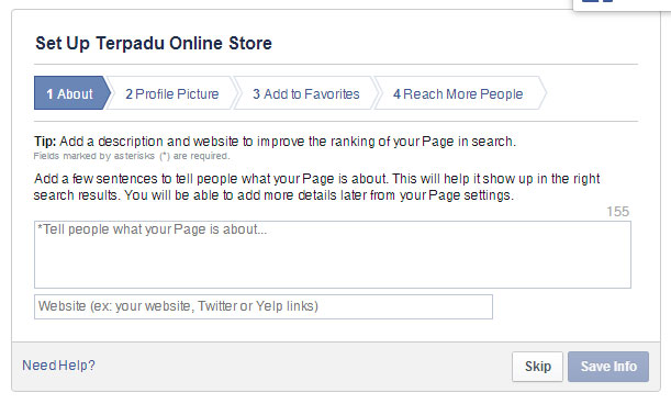 Cara Membuat Fanpage Facebook 3