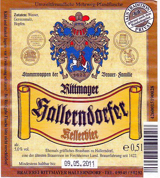 brauerei rittmayer hallerndorf kellerbier nr 88 bier scout. Black Bedroom Furniture Sets. Home Design Ideas