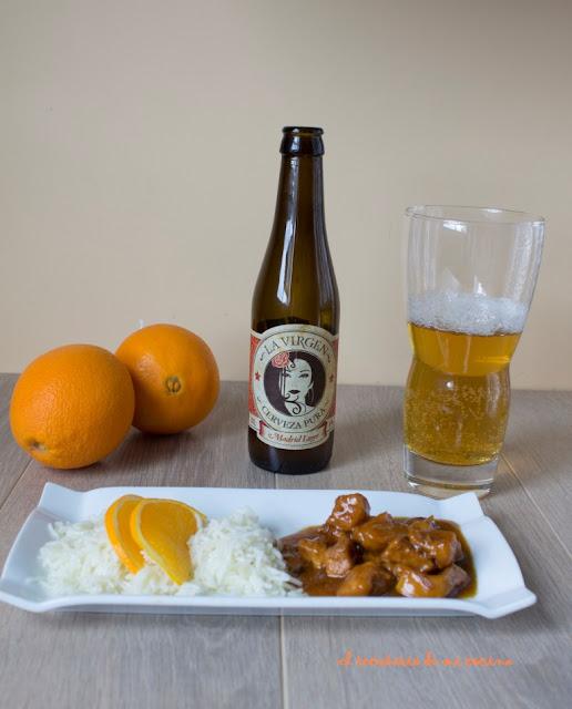 pechuga de pollo a la naranja y arroz basmati