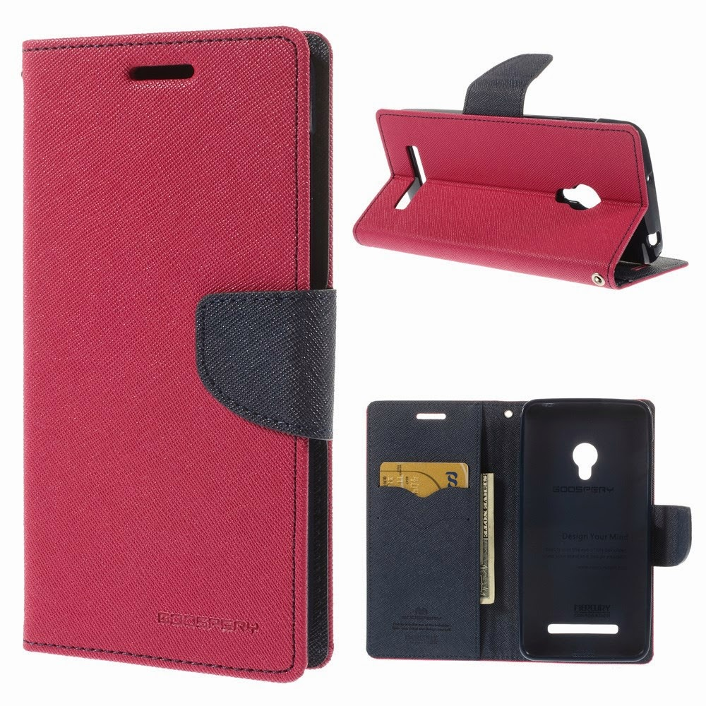 Leather-Case-Wallet-Asus-Zenfone-5-Mercury-Fancy-Diary-Magenta