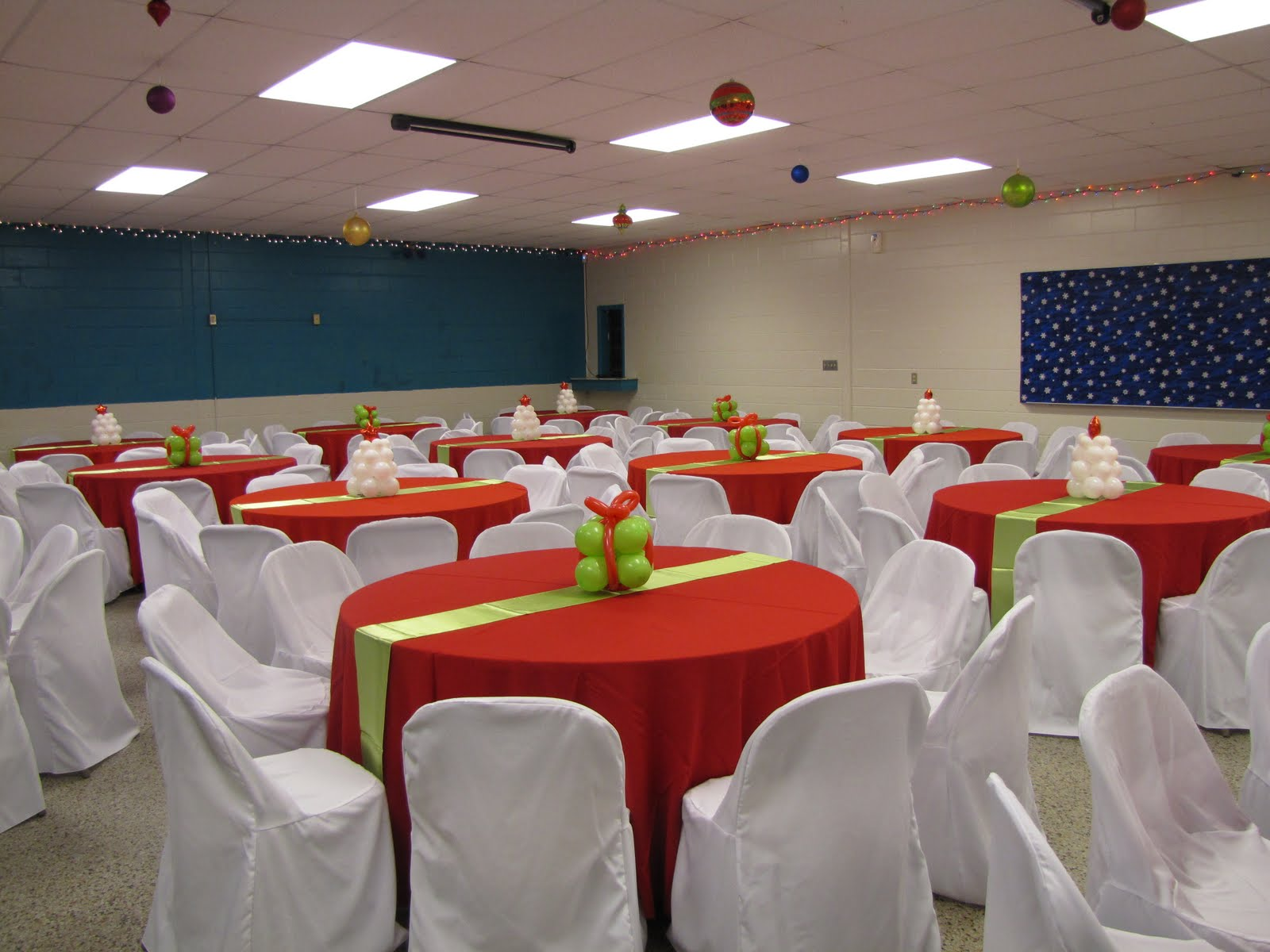 Party People Event Decorating Company: Lime and Red Christmas Gala ...
