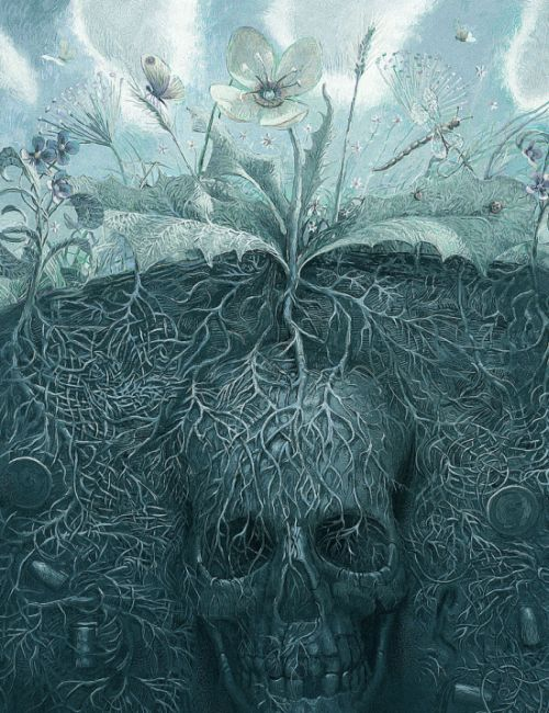 Andrew Ferez 25kartinok deviantart ilustrações sombrias surreais Memento mori