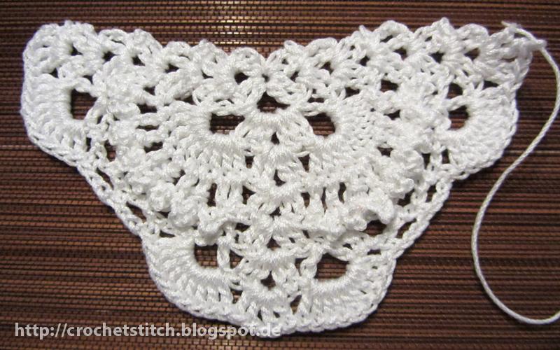 Crochet & Knitting Stitch: Woll-Muster zu Blätter-Dreieckstuch
