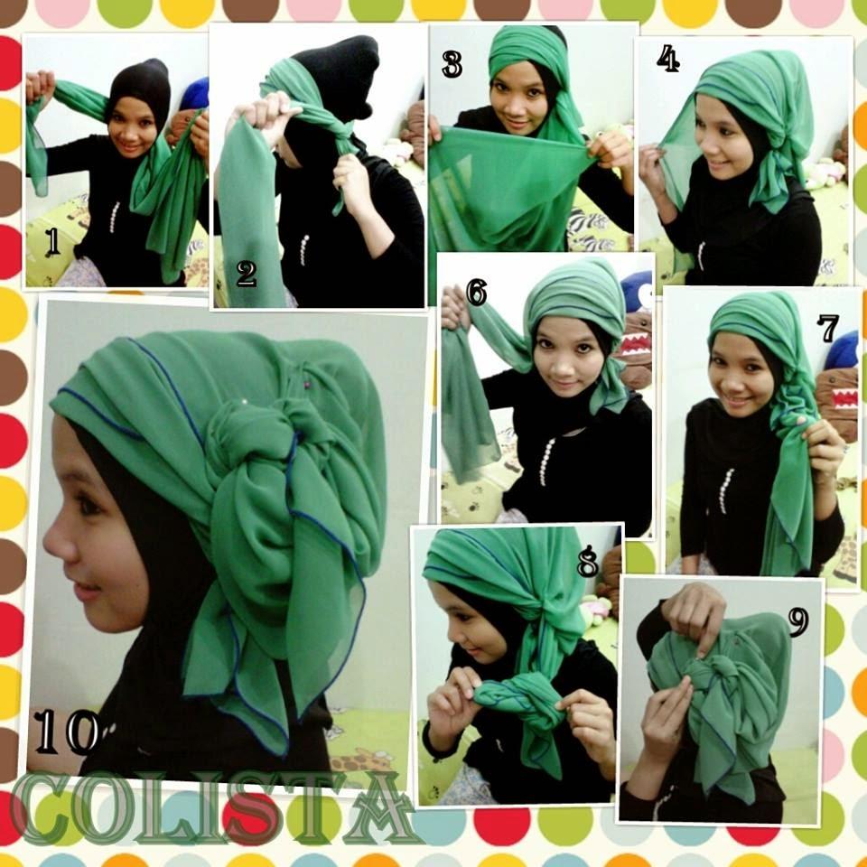 Memakai Jilbab Segi Empat Simple Modern