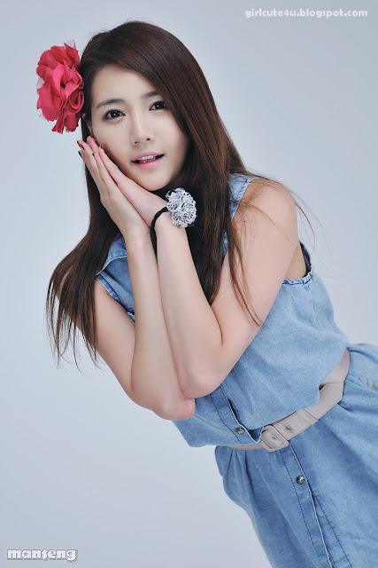 3 Han-Ga-Eun-Denim-Shirt-01-very cute asian girl-girlcute4u.blogspot.com