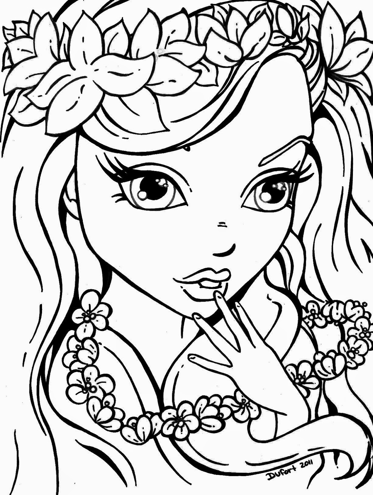 Free Coloring Pages For Girls Kids