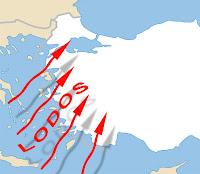 türkiye harita üstünde lodos rüzgarı