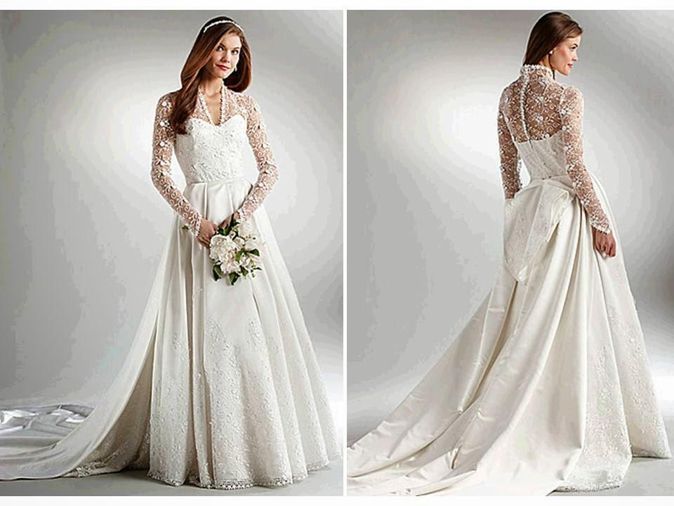 baju pengantin full renda