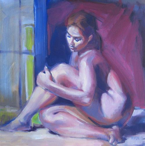 Seated Nude Woman Model